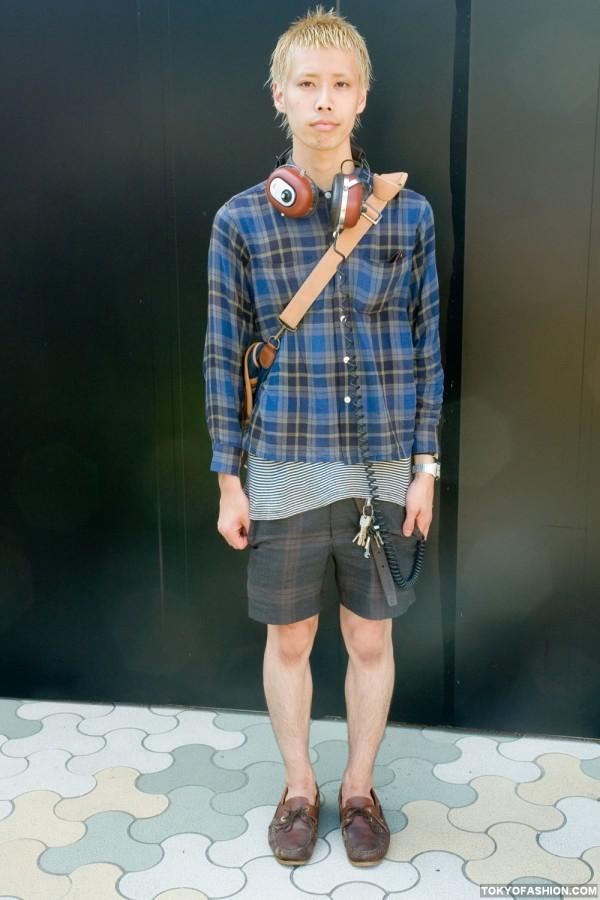 Blonde Guy Plaid Shorts