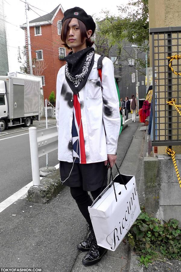 Beret and Bandana Fashion in Harajuku