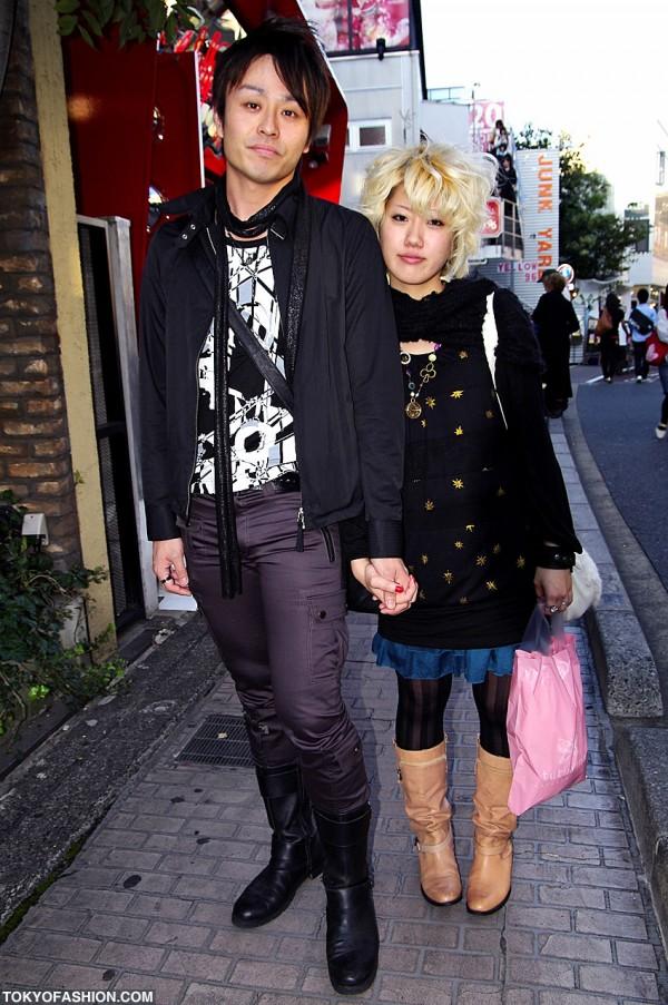 Blonde Hair, Gold Stars & Boots in Harajuku
