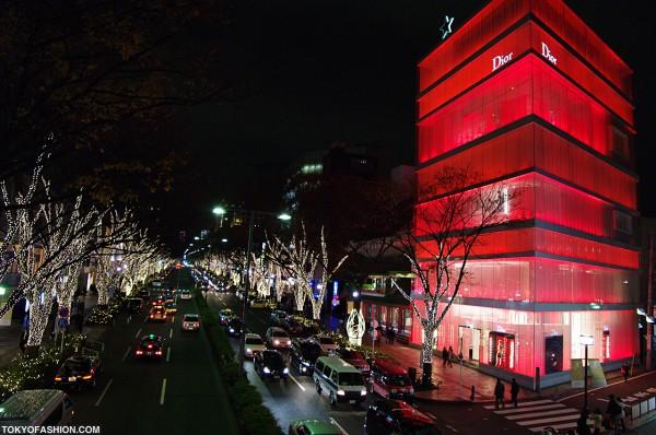 Dior and Omotesando Street