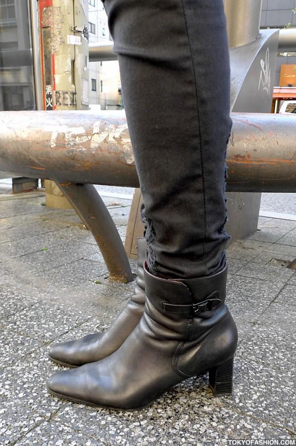 Long Tartan Coat Amp Boots In Tokyo