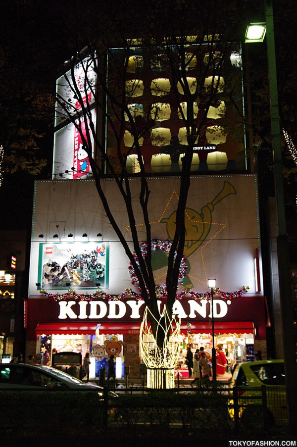 Kiddyland Harajuku at Christmas