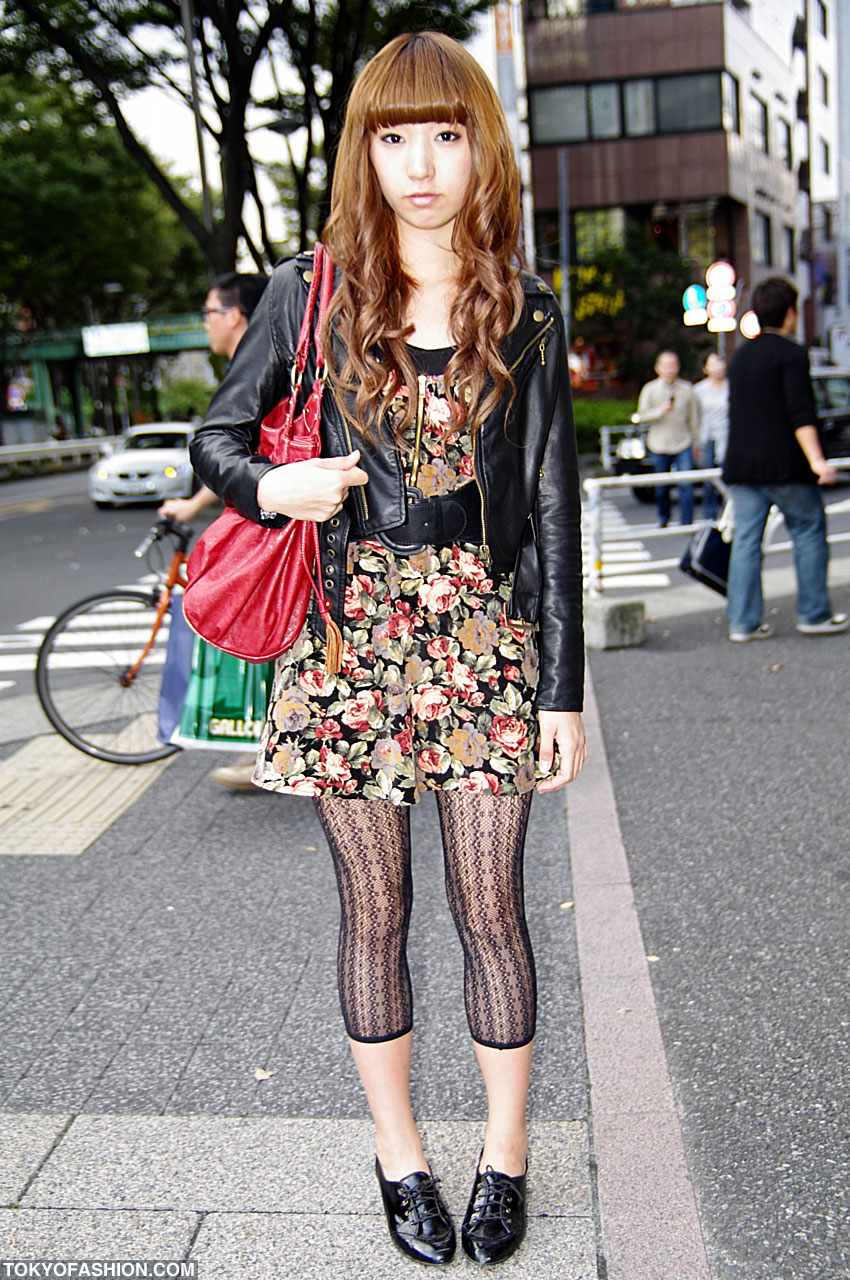 Red Leather Bag Amp Leather Jacket In Shibuya