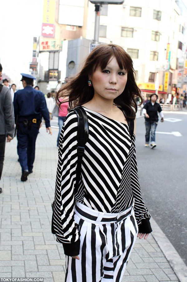 Striped Shirt in Shibuya