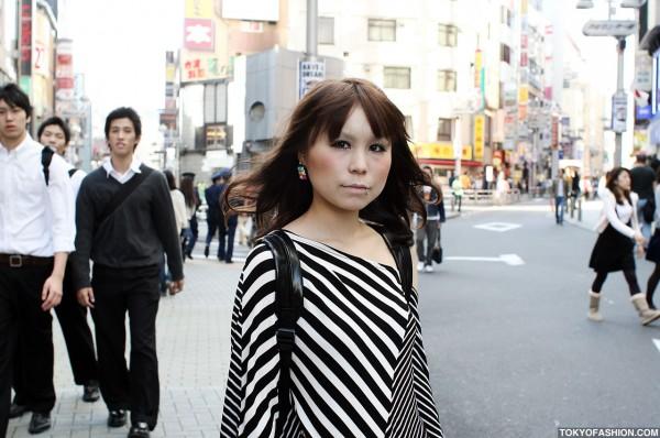 Stylish Japanese Girl in Shibuya