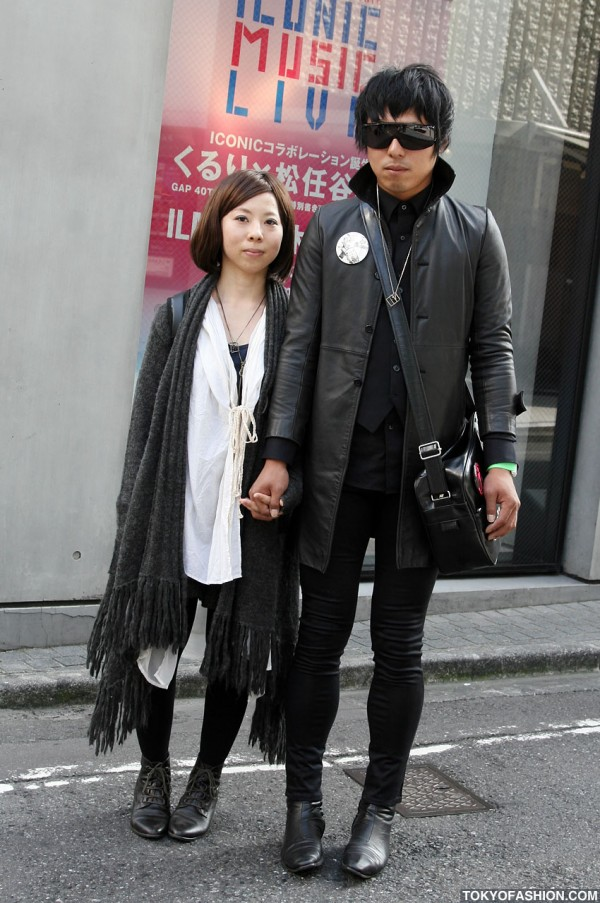 Qojelly Sweater + Joy Division Pin in Shibuya
