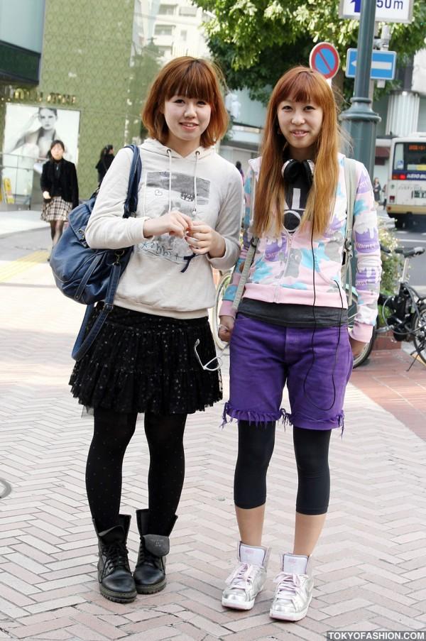 Purple Shorts & Jacksons Hoodie in Shibuya