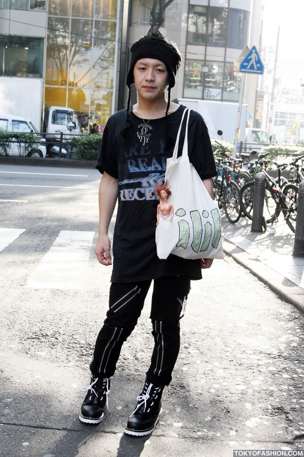 Dripping Chanel Necklace & ILIL Bag in Harajuku