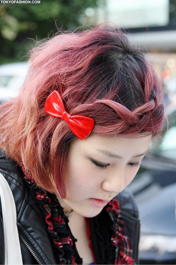 Cute Hair Bow in Harajuku