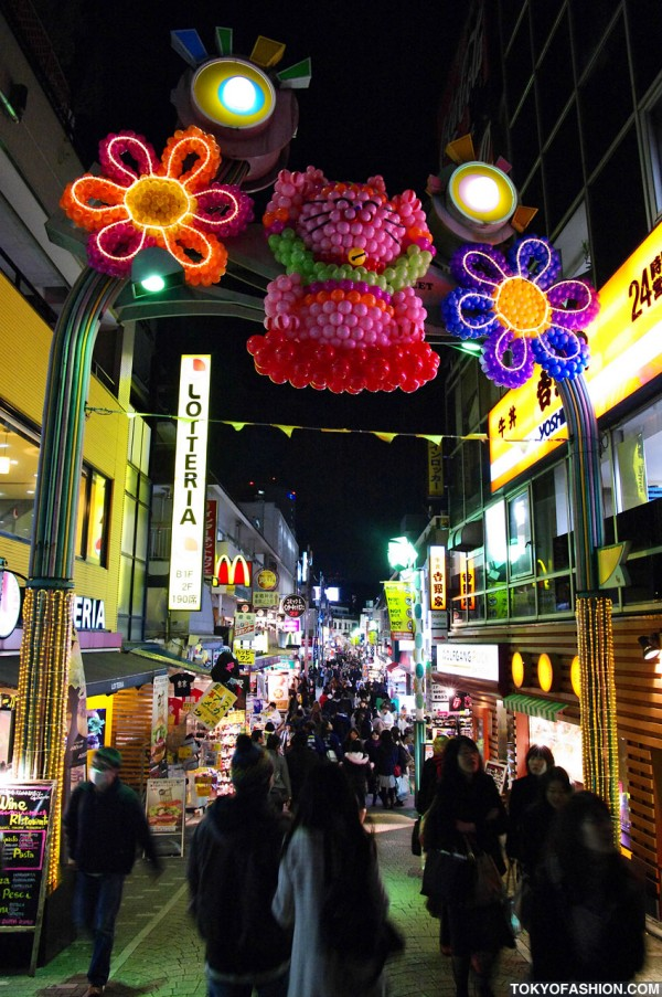 Takeshita Dori Christmas Pictures 2009