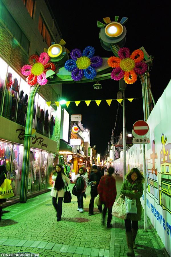 Looking Back Up Takeshita Street