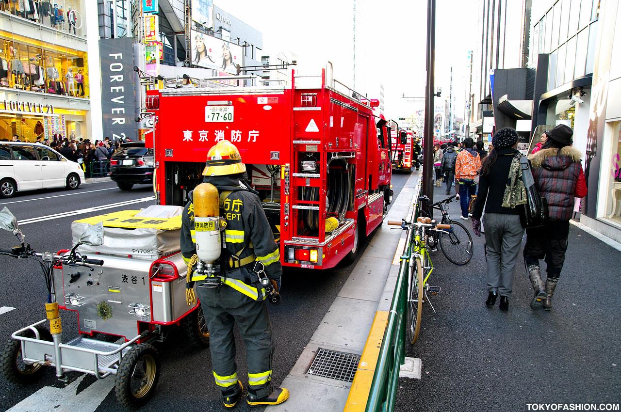 Japanese Firemen at G2? Resale Shop in Harajuku