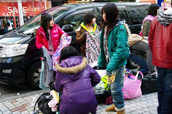 Girls Trading Clothing at Shibuya 109