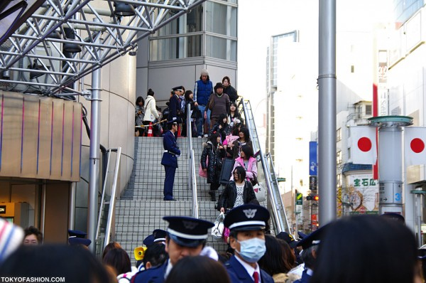 Shoppers Leaving Shibuya 109
