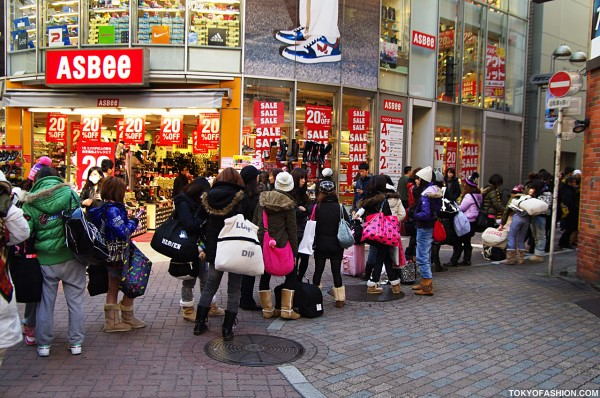 Long Line for ANAP in Shibuya
