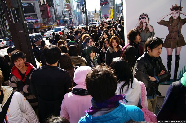 Crowds Outside of LaForet