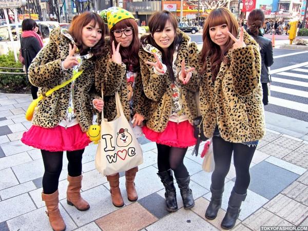 Leopard Print Japanese Girls