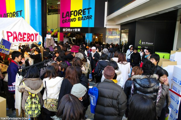 Big Crowds at LaForet Harajuku