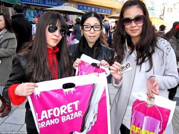 Friendly Girls Outside of LaForet Harajuku