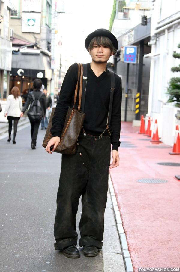 Japanese Guy in Dior & LV in Harajuku