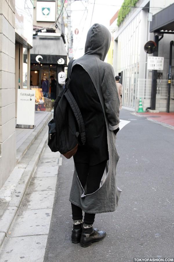 Cutout Hoodie & Backpack