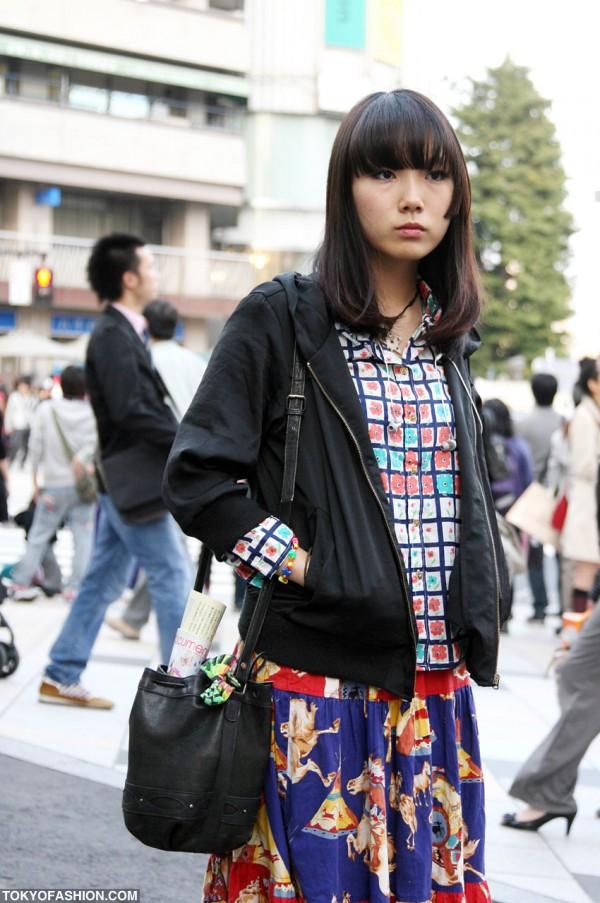 Bucket Purse & Black Jacket