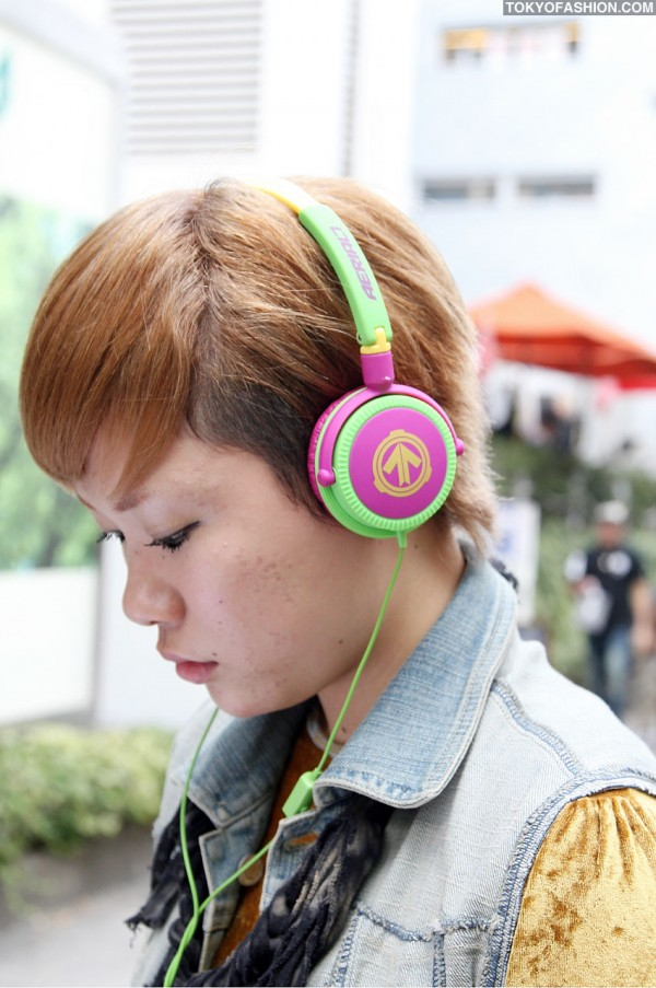 Japanese Girl in Aerial7 Headphones