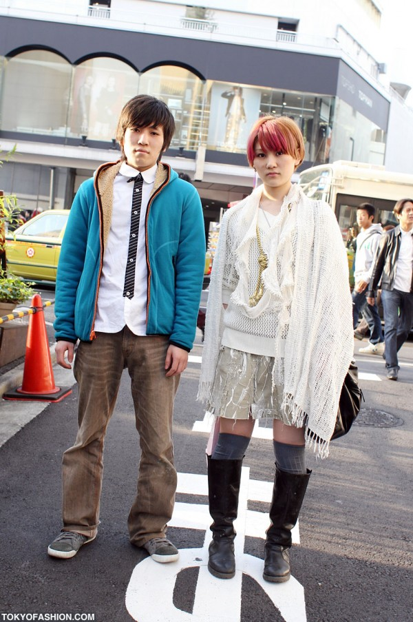 Bright Colored Hair & Light Colored Fashion in Tokyo