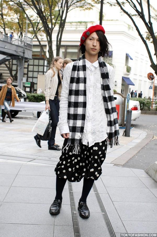 Plaid & Polka Dots in Harajuku