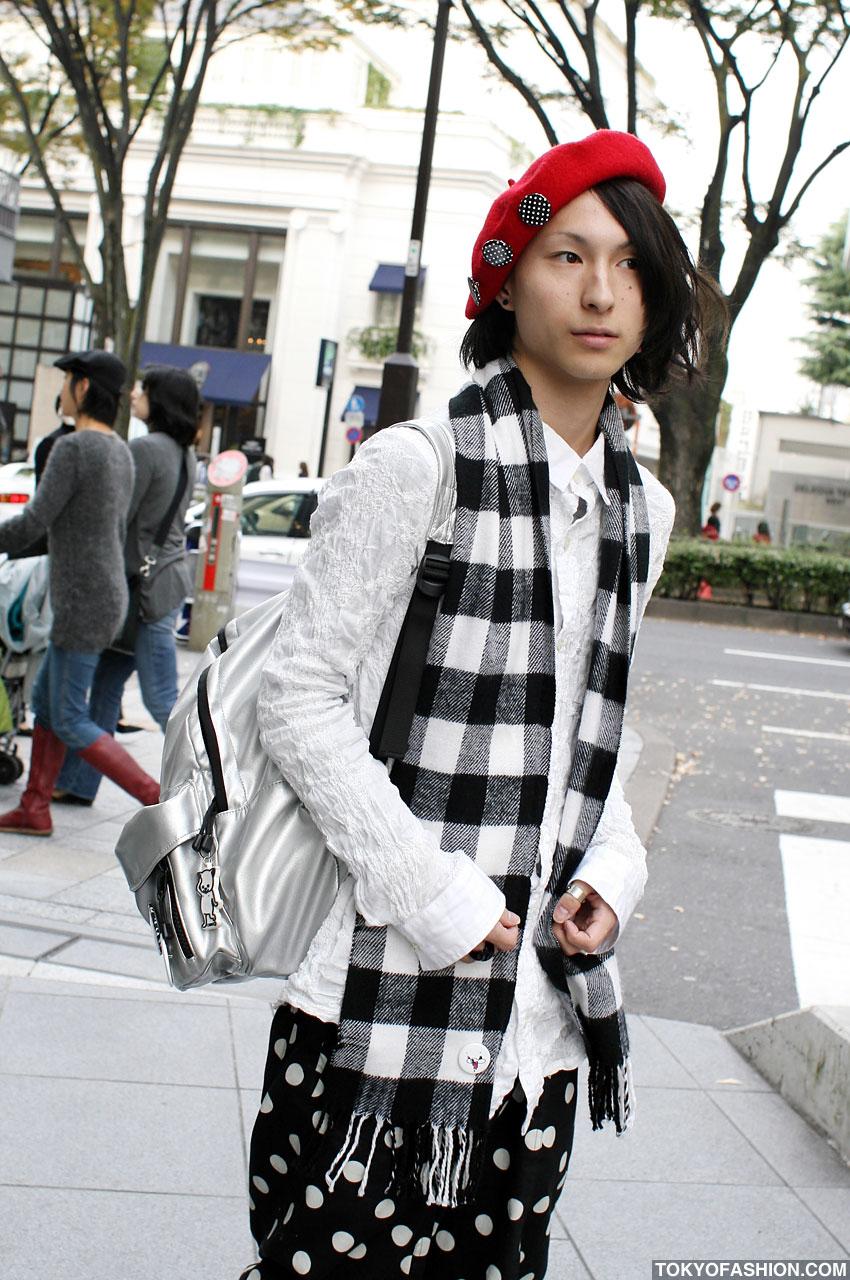 Stylish Japanese Guy Wearing Monomania & Yaponskii