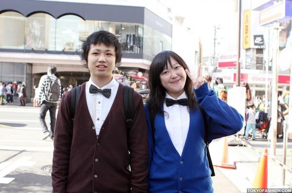Matching Bow Ties in Harajuku