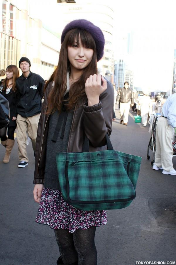 Plaid Handbag & Glitter Leggings