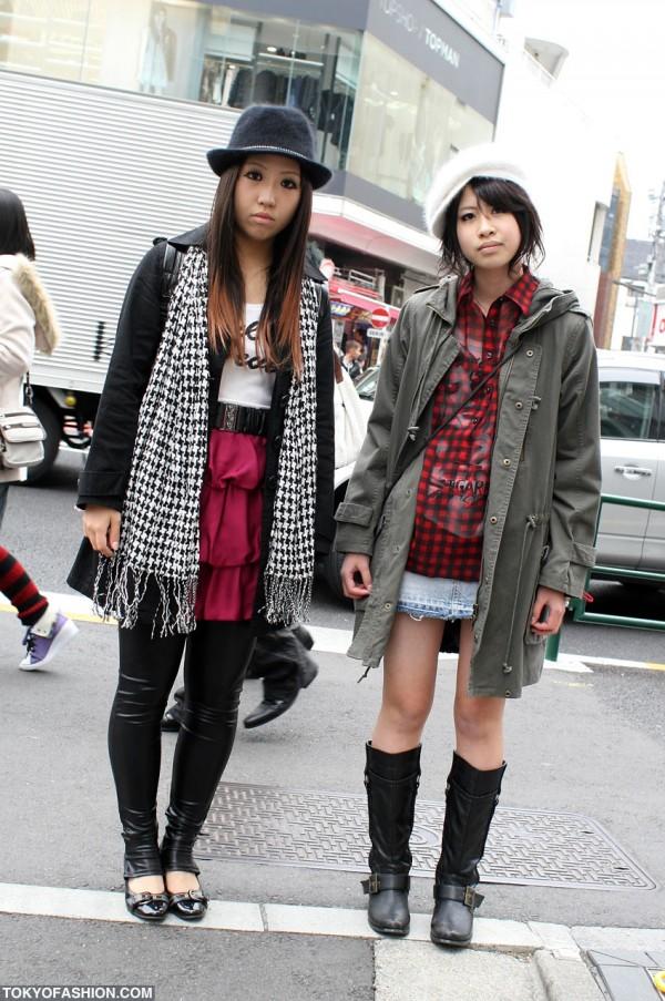 Mods Coat Girl x Fuzzy Fedora in Harajuku