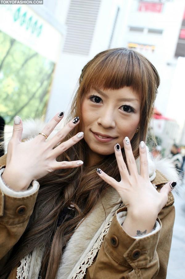 Jeweled Japanese Nail Art