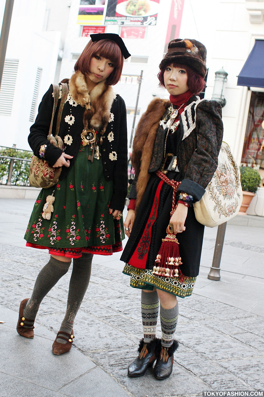 Japanese Dolly / Mori Girls In Harajuku