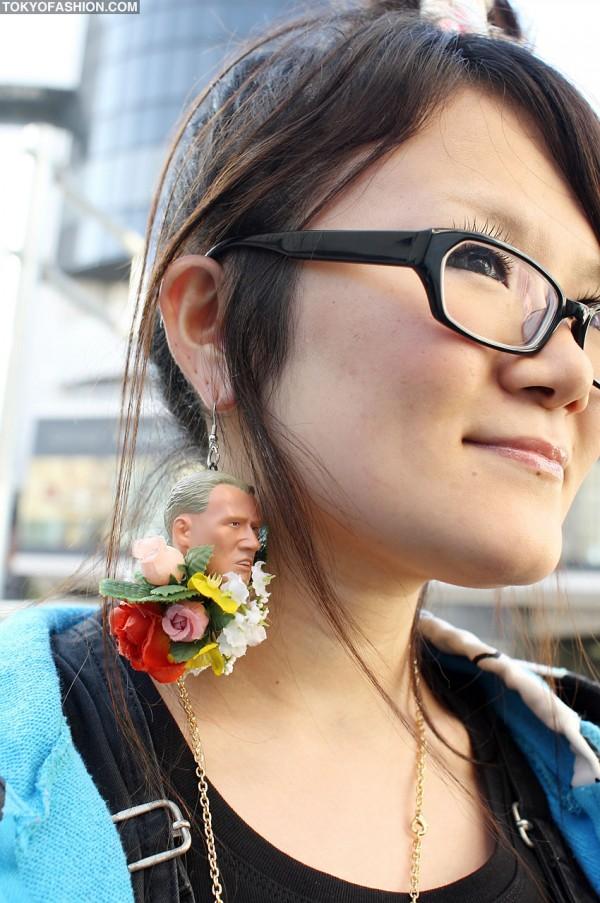 Amazing Human Head Earring