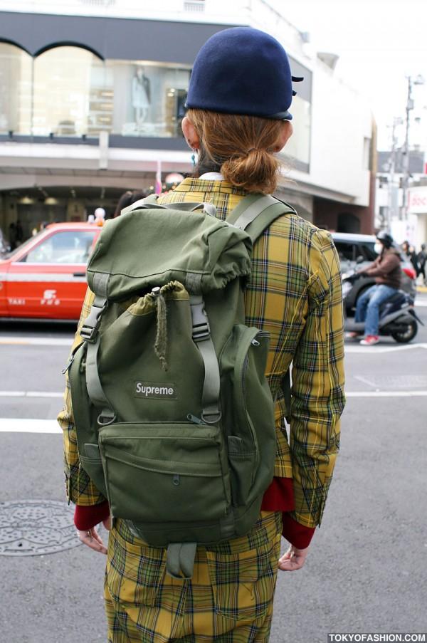 Supreme Backpack in Harajuku