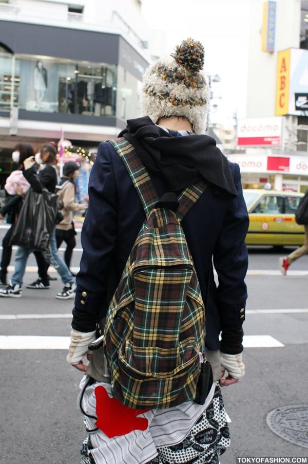 Plaid Backpack in Harajuku