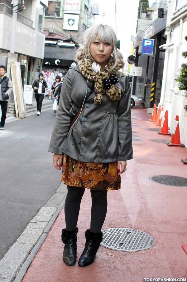 Japanese Girl in Grimoire Dress & WeSC Headphones