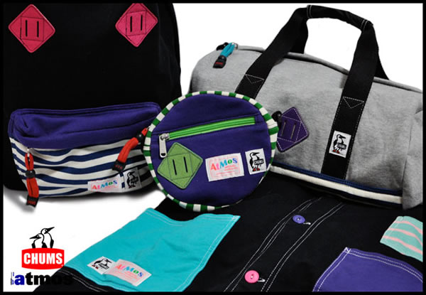 """Atmos x Chums """"Stripe Collection"""" Bags & Jackets"""
