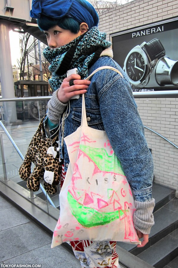 Hand Painted Handbag in Harajuku