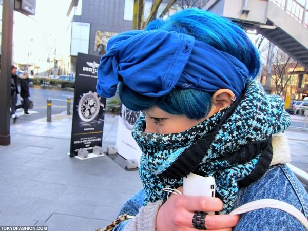 Blue Hair in Harajuku