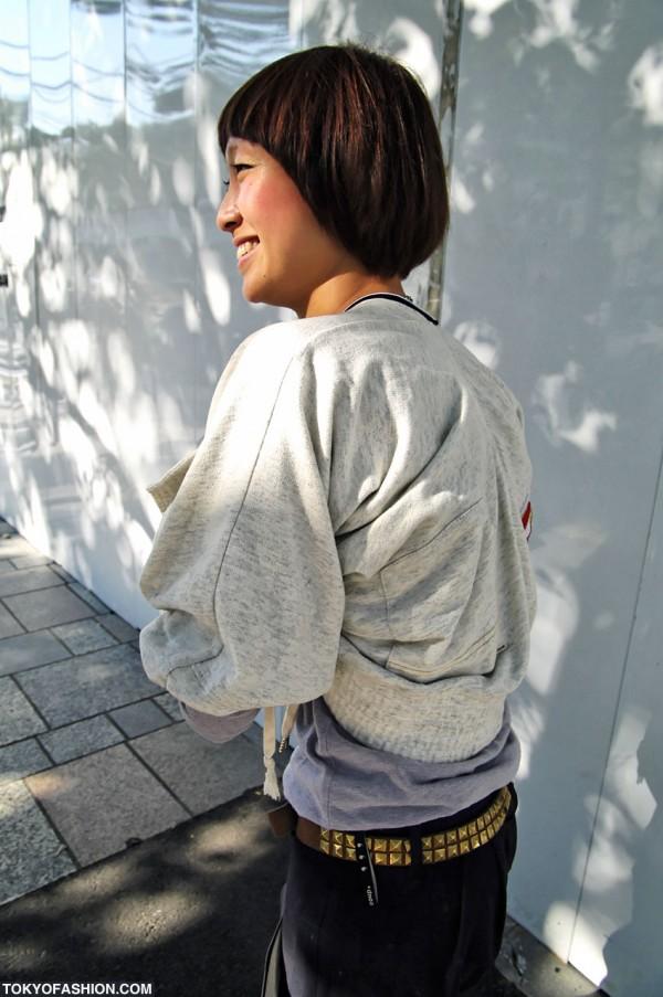 Deconstructed Jacket in Harajuku