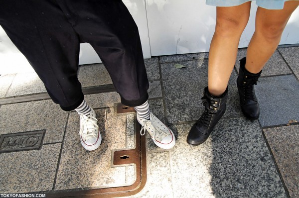 Japanese Girls in Sneakers