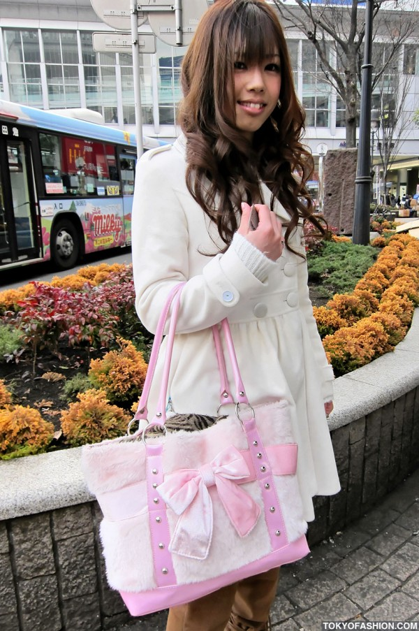 Shibuya Girl in White Coat
