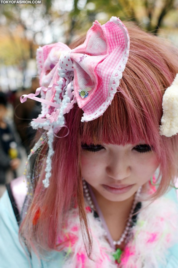 Giant Pink Japanese Hair Bow