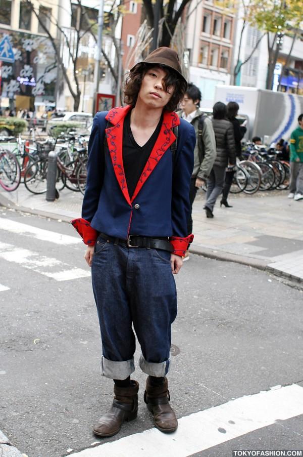 Harajuku Guy in Veronique Branquinho Boots