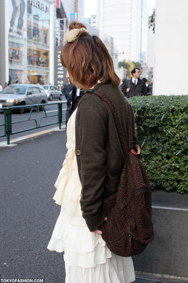Fuzzy Backpack in Harajuku