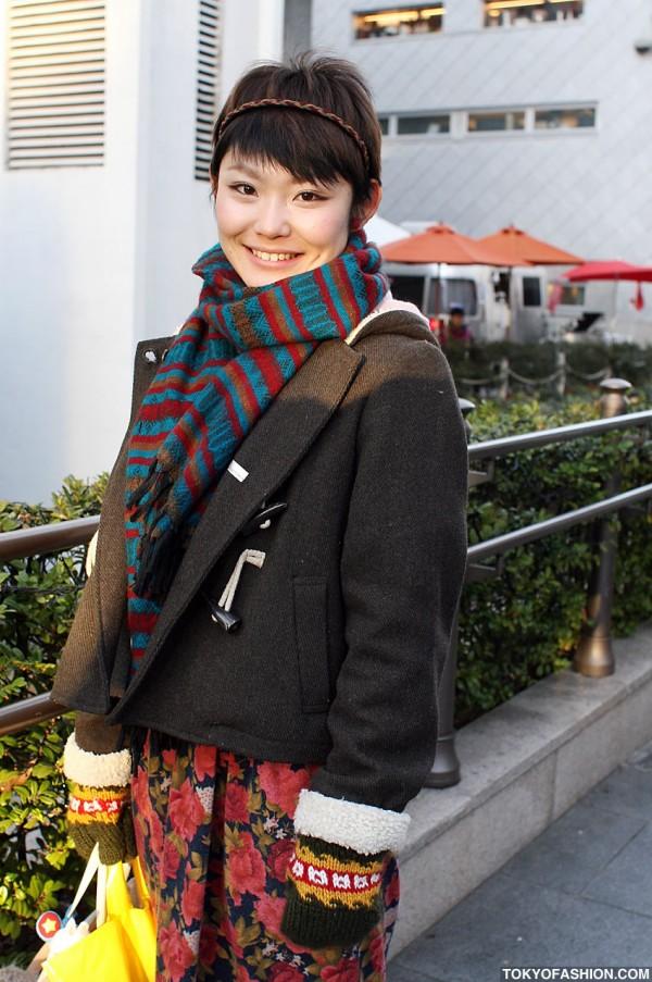 Wool Duffle Coat & Big Smile