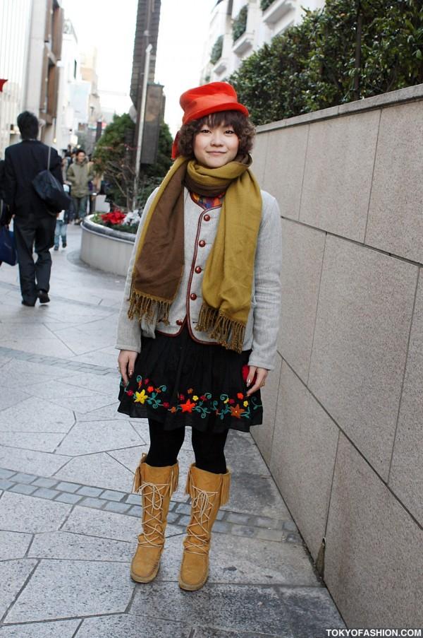 Japanese Nail Art & Moccasin Boots in Harajuku
